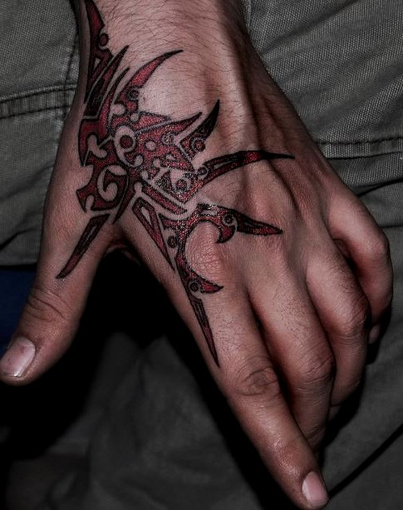 Cross Tattoo On Hand Men
