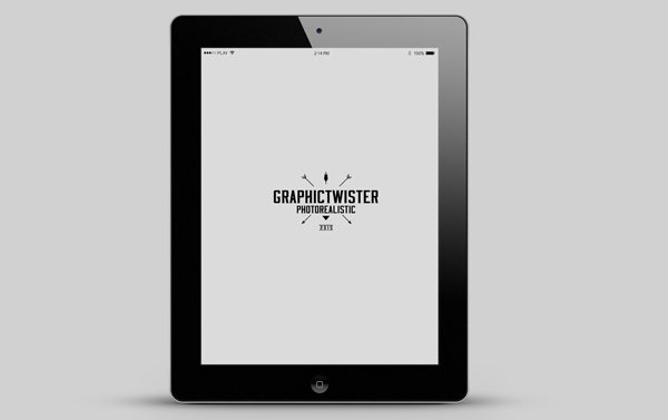 iPad 2 Mockup With Reflex Screen