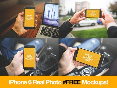 iPhone 6 Mockup Freebie from @coolmockups