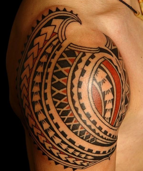 Shoulder Simple Polynesian Tattoo