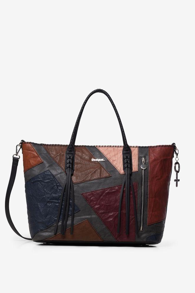 Shopping bag zip verticale