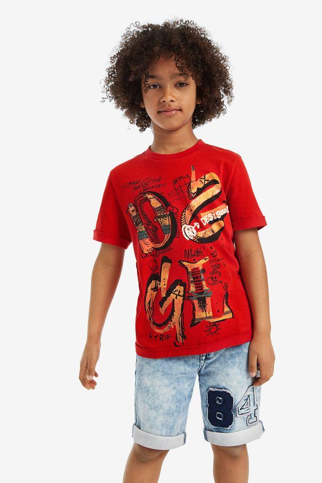 T-shirt a manica corta print frontale