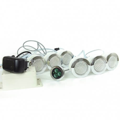kit spots 68 mm eingebaute o rgb wasserdicht ip68