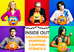 Inside Out Halloween Pumpkin Stencils and Inside Out Blu Ray DVD Release!