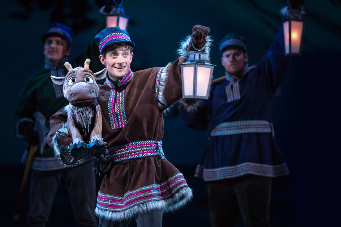 YOUNG KRISTOFF AND SVEN IN 'FROZEN Ð LIVE AT THE HYPERION' -- A new theatrical interpretation for the stage based on DisneyÕs animated blockbuster film, Frozen is now playing at the Hyperion Theater at Disney California Adventure Park. The show immerses audiences in the emotional journey of Anna and Elsa with all of the excitement of live theater, including elaborate costumes and sets, stunning special effects and show-stopping production numbers. (Piotr A. Redlinski/Disneyland Resort)