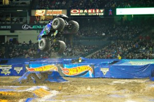A Night of Big Ups and Big Crashes at Monster Jam at Angel Stadium