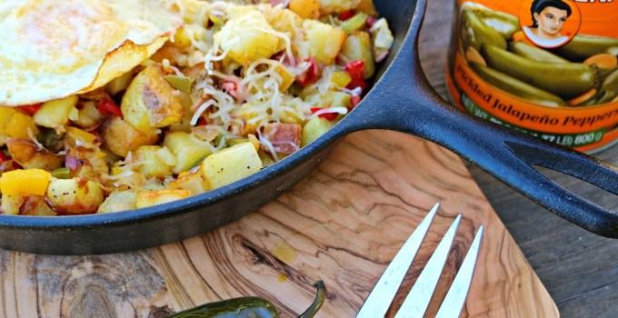 Bacon, Egg, Jalapeno Country Potatoes