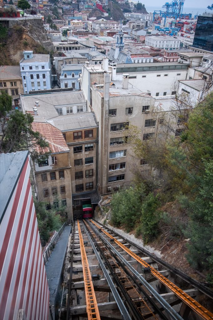 Funicular in Valparaíso Chile