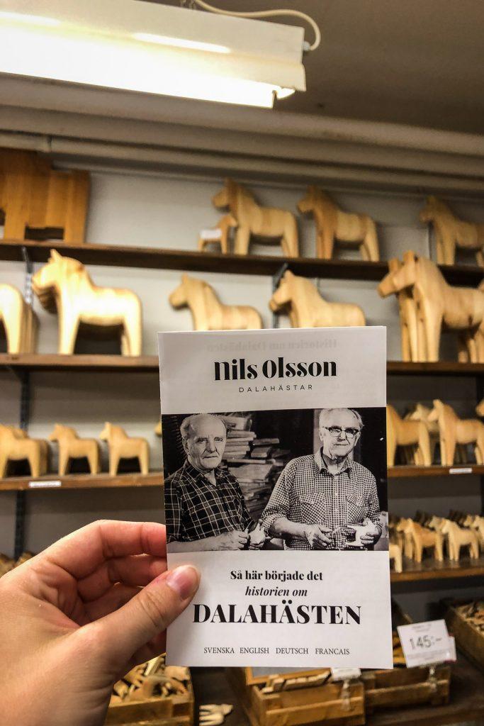 Traditional dalahäst dalahorse at Nils Olsson Dalahäster Dalarna Sweden