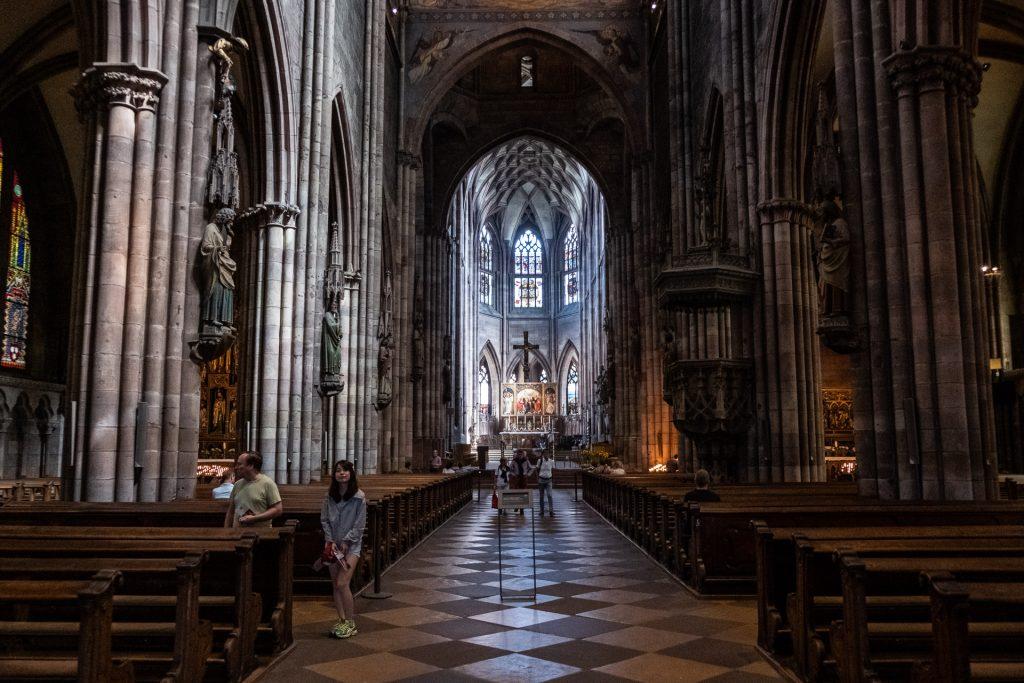 Freiburg im Breisgau , Tyskland Germany, Baden Württemberg, Freiburg Minster, cathedral, katedral, kirke