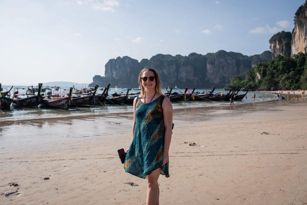 Thailand, Asia, Beach, Railay beach, longtail boat, boats, smile
