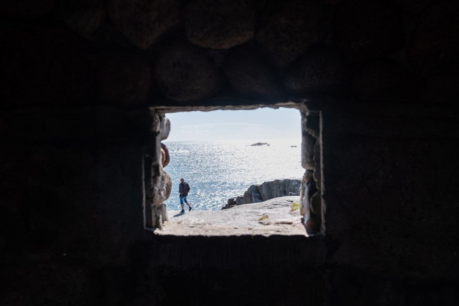 View from inside Vippehuset at Verdens Ende, Tjøme, Norway