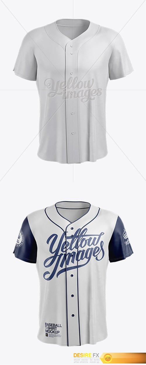 Download Men's Baseball Jersey Mockup - Front View 14133 - All Free ...