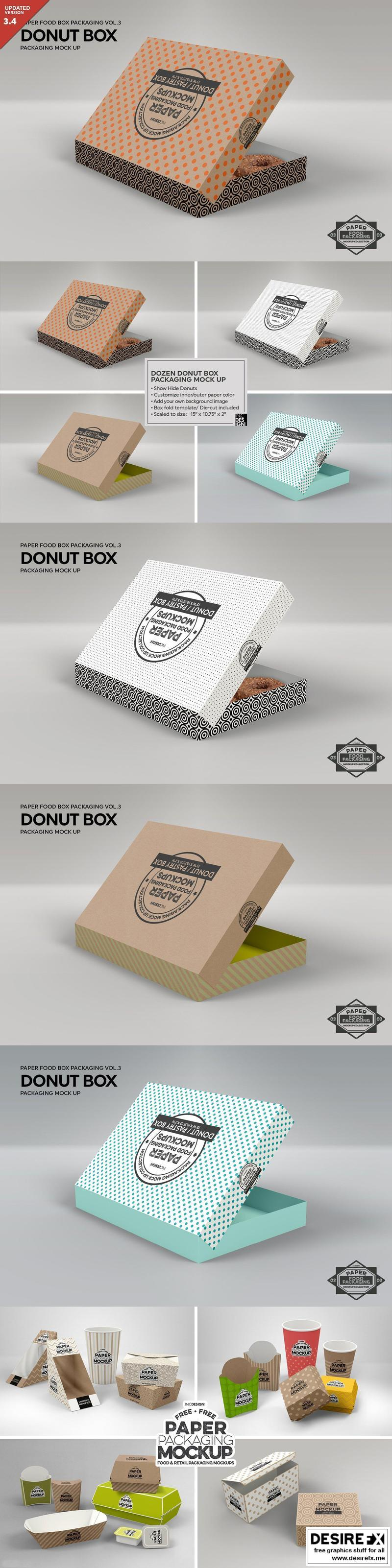 These psd mockups are just perfect to create the most interest. Desire Fx 3d Models Cm Donut Box Packaging Mockup 1211264