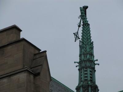 Central Lutheran's broken steeple