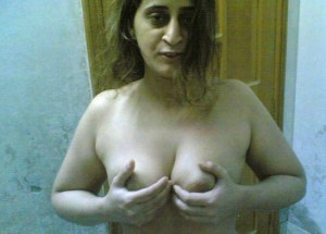 aunty holding boobs pic