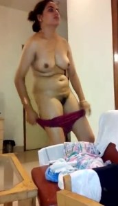 horny indian milf stripping panty