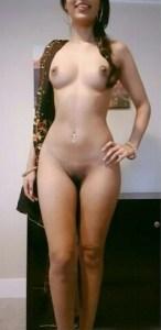 Desi slim naked babe