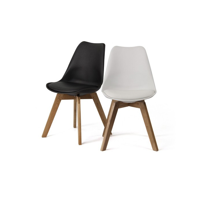 Dining chair  Scandinavian style chair with wood legs