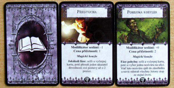 Arkham Horror: Prokletí temného faraona - karty