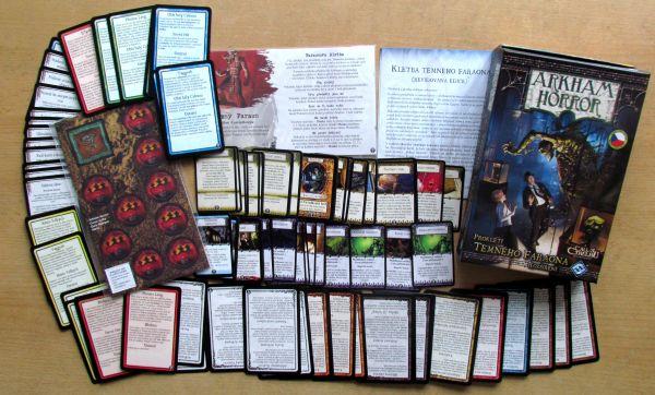 Arkham Horror: Prokletí temného faraona - balení