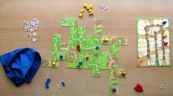 Carcassonne: Kupci a stavitelé - rozehraná hra