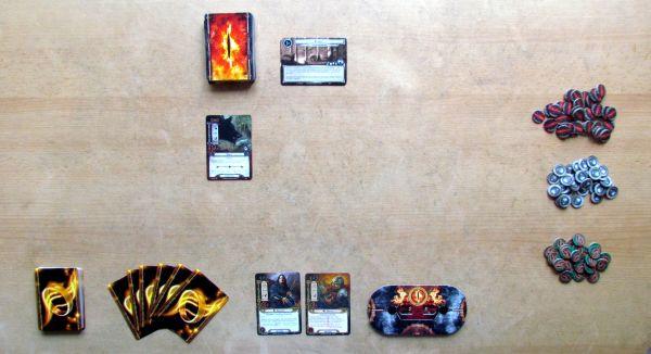 Pán prstenů: Karetní hra - připravená hra