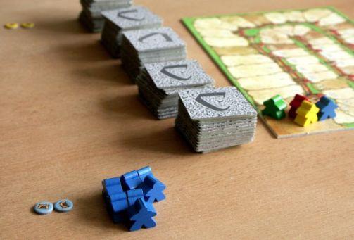 Carcassonne: Tunel - připravená hra