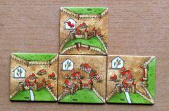Carcassonne: Kupci a stavitelé - dílky krajiny