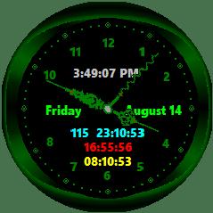 desktop clock analog clock