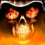 Fire Skull Animated Wallpaper