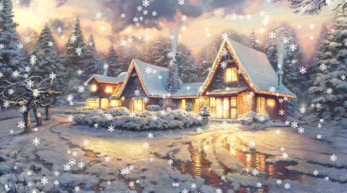 Falling Stars Wallpaper 1980x1020 Christmas Eve Animated Wallpaper Desktopanimated Com