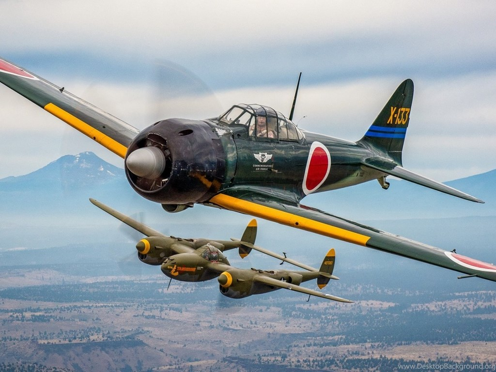 Wallpaper 3d Iphone 4s Mitsubishi A6m Zero And P 38 Lightning Wallpapers