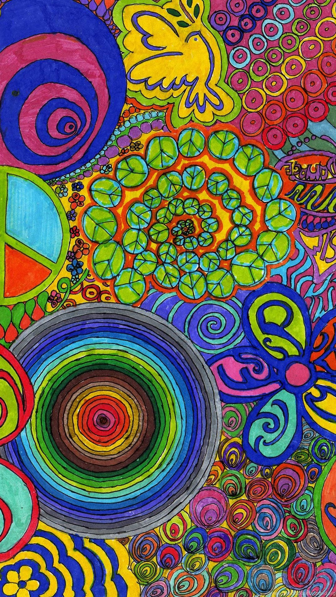 Color Full Hd Wallpaper Abstract Wallpaper Hippie Flower Free Wallpapers For Hd