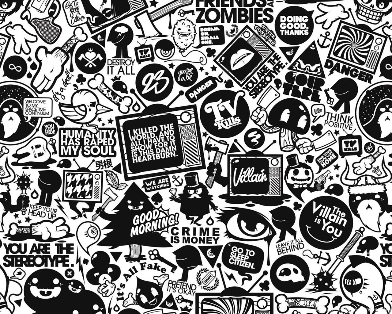Iphone 4s Girly Wallpapers Black And White Collage Vector 1920x1080 Hd Wallpapers
