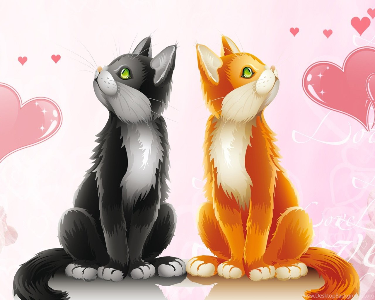 Cute Cartoon Animal Wallpapers For Android Cute Animal Valentines Day Wallpapers Valentine Week