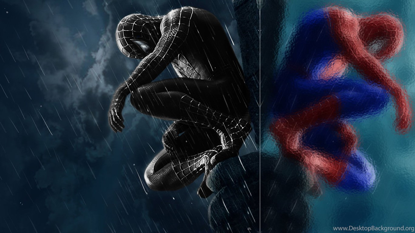 black spiderman wallpapers free