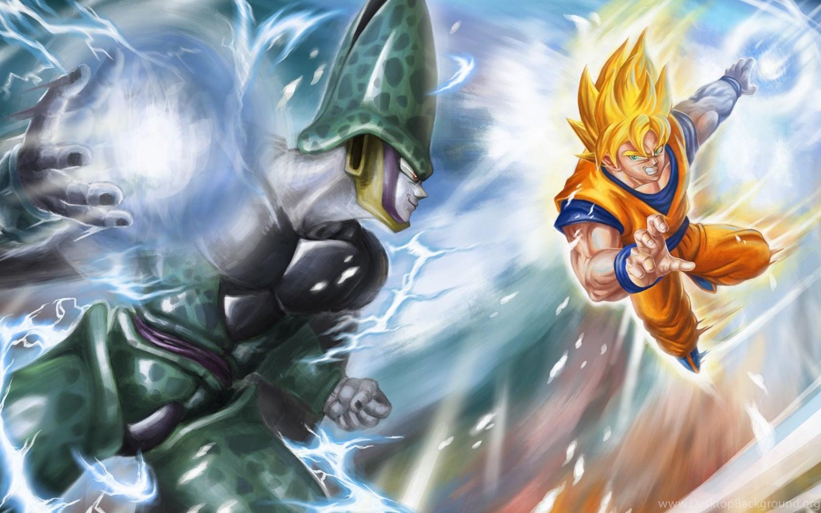 Super Saiyan Live Wallpaper Iphone X Hd Goku Vs Cell Dragon Ball Z Hd 1080p Wallpapers Full