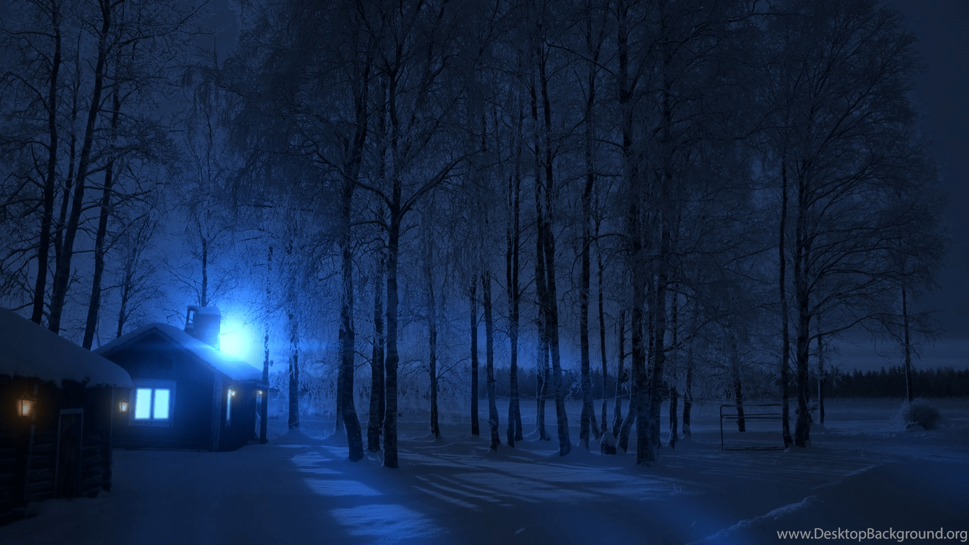 Christmas Scene Wallpaper For Iphone Cold Winter Night Wallpapers Hd By Guncapmv On