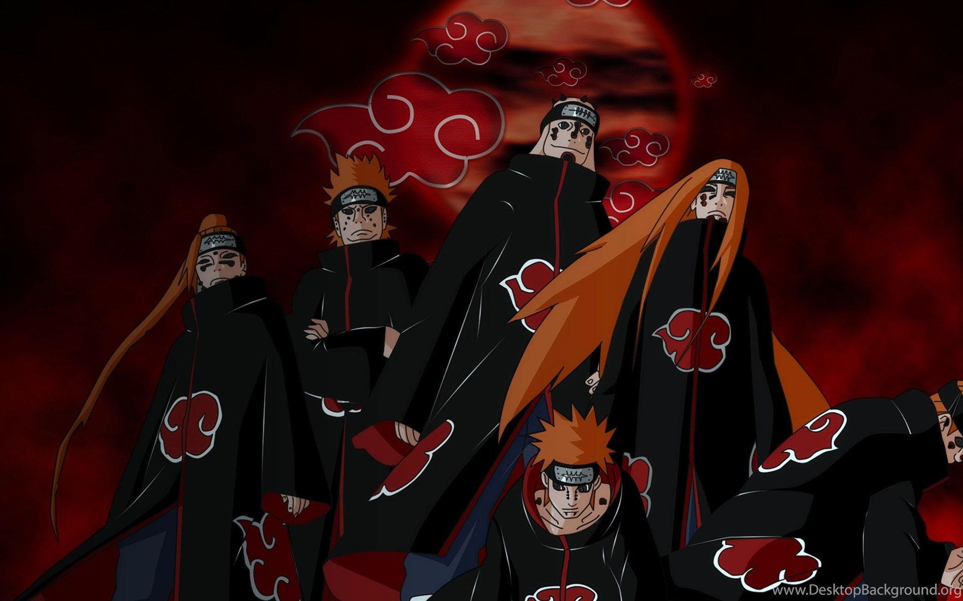 Hd Naruto Iphone Wallpapers Six Pain 1080 Hd Wallpapers Desktop Background