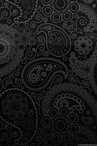 Cute Wallpapers For Phone Screen Black Paisley Wallpapers Wallpapers Zone Desktop Background