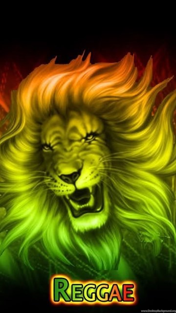 Hd Wallpaper For Android Mobile Rasta Lion Wallpapers Desktop Background