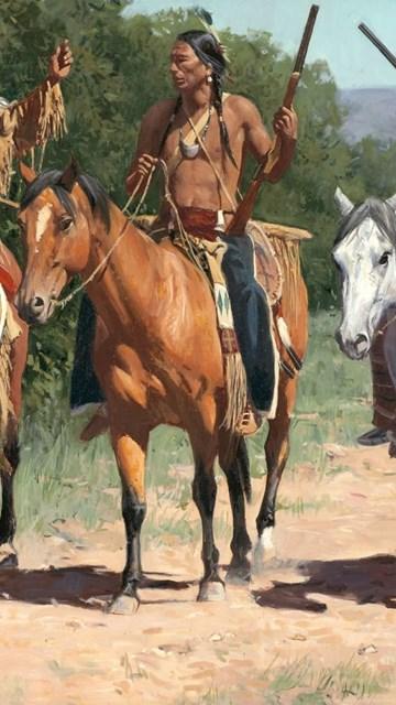 American Iphone X Wallpaper Native American Indian Horse Paintings Art Western