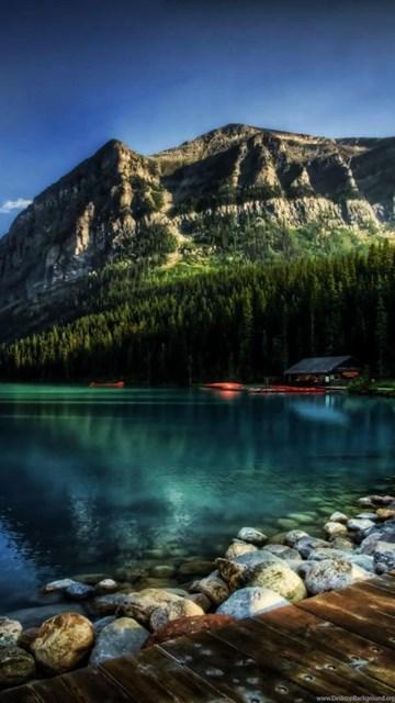 Wallpaper Iphone 4s Size Fantastic Lake Louise In Alberta Canada Hdr Wallpapers Hd