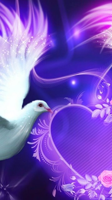 Wallpaper Cute Emoji Beautiful Love Birds Nokia Lumia 520 Hd Wallpapers Love