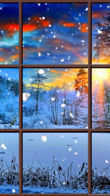 Windows 10 Wallpaper Hd Free Download Winter Window Snow Scene In 4k Living Wallpapers With