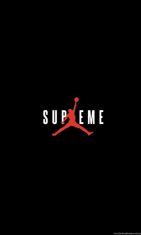 Hd Supreme Wallpaper Iphone X Supreme X Jordan Wallpapers Streetwear Desktop Background