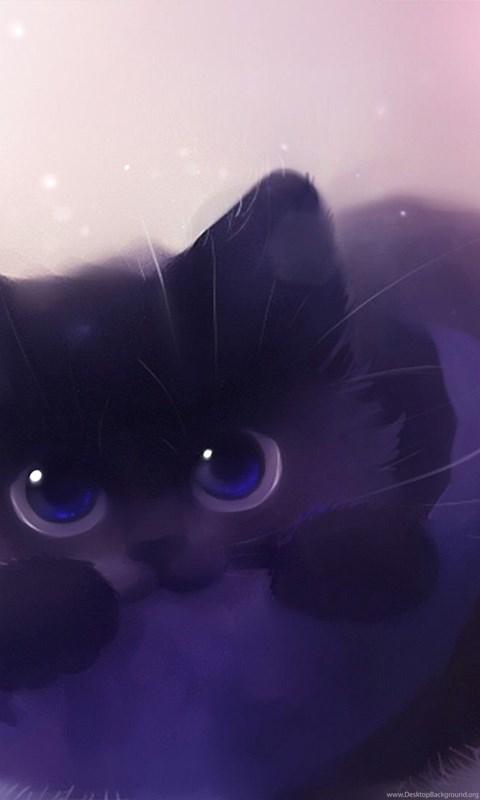 Free Cute Christmas Desktop Wallpaper Cats By Apofiss Animal Cat Art Kitten Black Cute Free