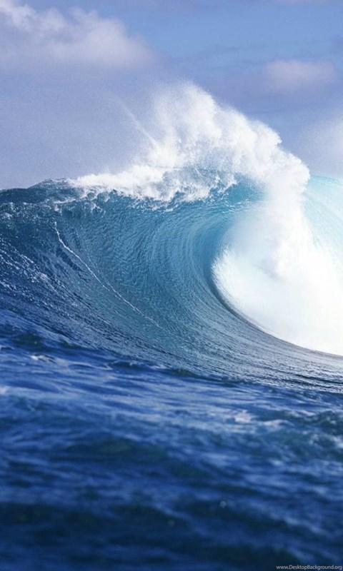 2560x1024 Hd Wallpaper Ocean Wave Dual Screen Wallpapers Desktop Background
