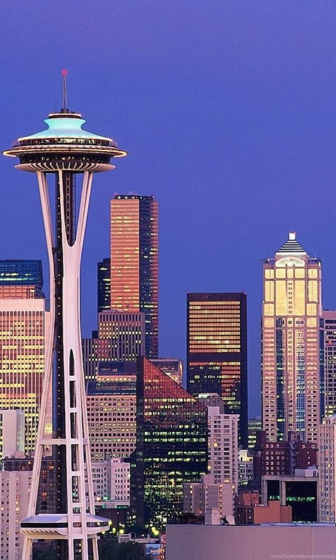 Iphone 5c Color Wallpaper Space Needle Seattle 1600x1200 Wallpapers Space Needle